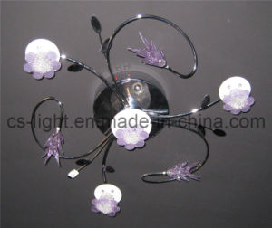 Modern Flower Glass Ceiling Lamp