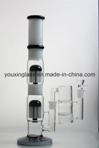 17.2′′ Glass Smoking Pipe and Water Pipe with Stright Arm Tree and White Honeycomb pictures & photos