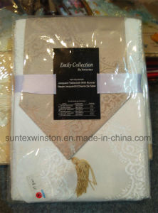 100% Polyester Jacquard Table Cloth with Runner pictures & photos