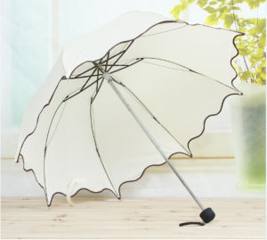 Manual Open Edged Fold Umbrella (JYFU-01) pictures & photos