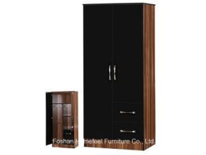 New High Gloss 2 Drawers +2 Door Combi Wardrobe Closet pictures & photos