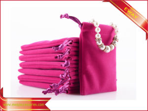 Velvet Jewelry Packing Bag Drawstring Velvet Bag pictures & photos