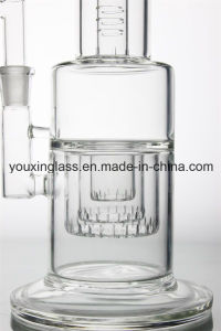 16.4′′ Glass Smoking Pipe Glass Water Pipe with Inner Triple Layer Percolator and Little Head pictures & photos
