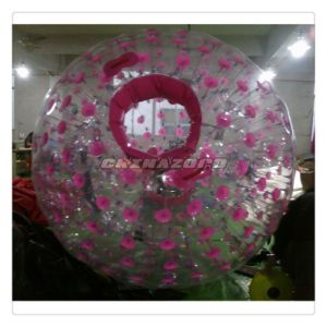 Top Quality Pink Color Dots Inflatable Zorb Wholesale Price pictures & photos