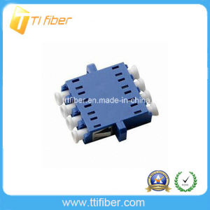 LC/Upc Simplex Quad Blue Adaptor with Flange pictures & photos