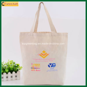 Casual Promotional Natural Beige Cotton Canvas Shopping Tote Bags pictures & photos