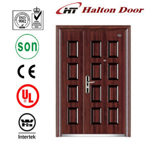 Entrance Security Steel Door with Lite for Villa