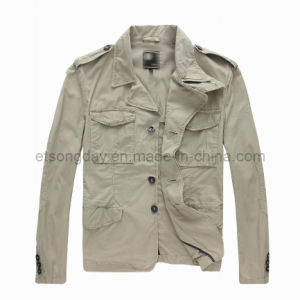 Outwear Hot 100% Cotton Men′s Casuall Jacket (PS-RIAN) pictures & photos