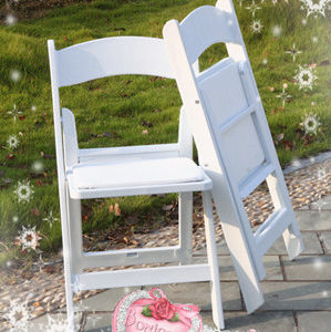 Resin Folding Chair for Outdoor Weddings pictures & photos