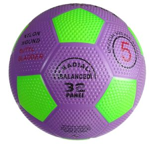 Pebble Surface Top Rubber Football/Soccer Promotion Ball pictures & photos