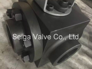 Three Way Ball Valve for A105 Power Plant pictures & photos