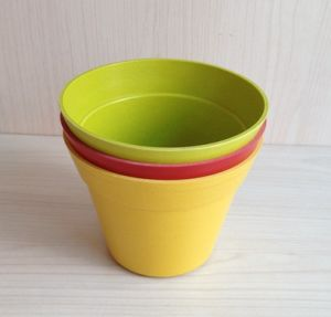 Colorful Natural Bamboo Fiber Flower Pot (BC-F5001) pictures & photos