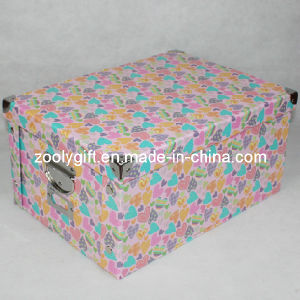 Heart Printed Home Multi-Purpose Cardboard Paper Storage Box pictures & photos