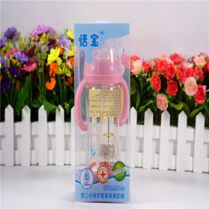 270ml Crystal Diamond Baby Glass Bottle with Bottom Set pictures & photos