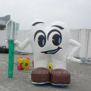 Inflatable Tooth With Toothbrush for Dental Business Promotions (K3023) pictures & photos