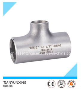 B16.9 A403 Wp321 Seamless Stainless Steel Pipe Fittings Tee pictures & photos