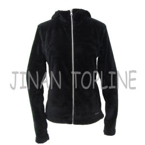 Ladies Fashion Hoody Faux Fur Fake Fur Jacket pictures & photos