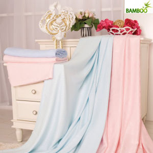Solid Color Two-Side Anti-Pilling Bamboo Fiber Blanket pictures & photos