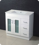Modern MDF Bathroom Cabinet with Thin Profile Ceramic Basin pictures & photos