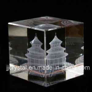 3D Laser Crystal Glass Engraving Cube for Promotion Gifts pictures & photos