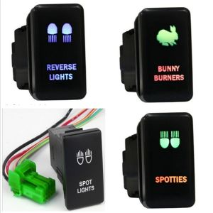 Double Color Push Button LED Light Toyota Auto Switch pictures & photos