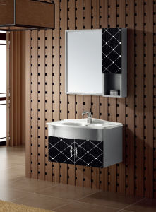 Modern Style Bathroom Vanity with Side Cabinet (T-9450) pictures & photos