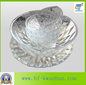 High-Quality Pressed Glass Bowl Fruit Candy Bowl Tableware pictures & photos
