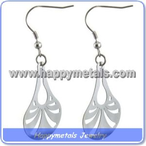 Stainless Steel Color Tear Drop Earring (E10049)