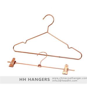 Hot Sale Copper Brass Color Hanger Metal Baby Hanger Set Hangers for Jeans pictures & photos