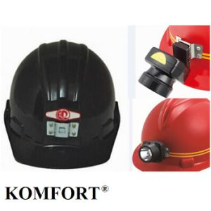 Coal Mine Custom Safety Helmet with Head Lamp pictures & photos