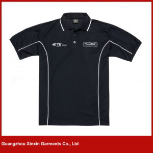 2017 Fashion Style Black Short Sleeve Polo Shirt for Men (P101) pictures & photos