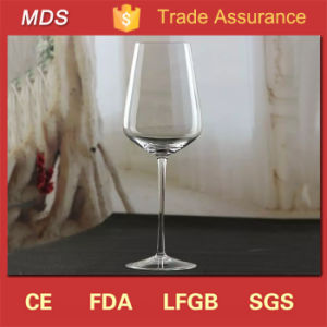 Hand Made Slanted Lead Crystal Wine Glasses Slim Stem pictures & photos