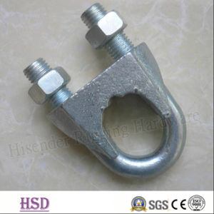 Rigging Fastener Zinc Plated DIN741 Wire Rope Clamp with Certificate pictures & photos