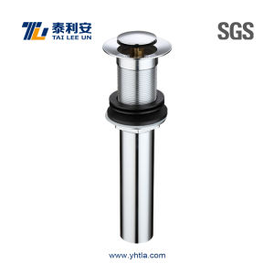 Chrome Plated Brass Drain Sink Waste No Overflow (T1025-C) pictures & photos