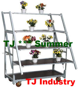 Slide Style Metal Flower Display Cart pictures & photos