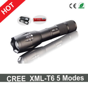 Hot Sale CREE Xml-T6 LED Flashlight+Charger+1X18650 Battery pictures & photos