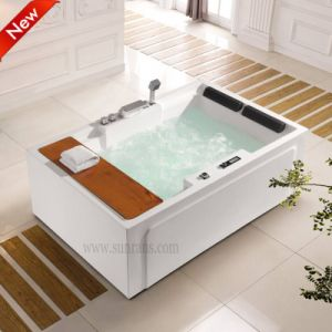 Fashionable Corner Air Jet Bathtub with Apron for Two Person (SF5A006) pictures & photos