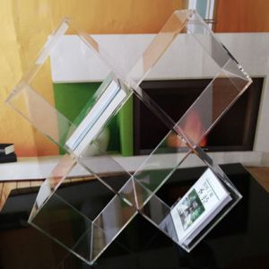 Assemble Clear Acrylic Book Storage Rack pictures & photos