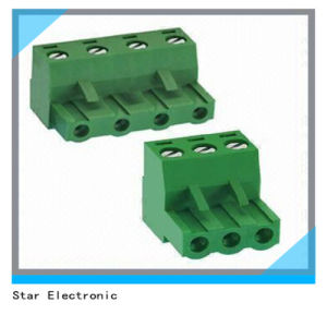 PCB Right Angle Screw Terminal Block with 3 Pole 4 Pole pictures & photos