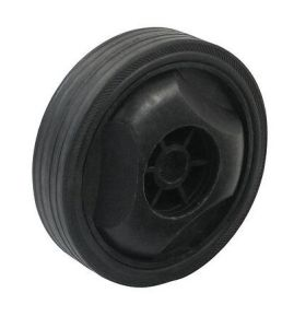 30mm Width Trundle 12cm Od Black Plastic Skidproof Wheel for Air Compressor pictures & photos