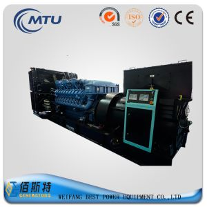1500kw Powerful Silent Generating Set with Mtu Engine