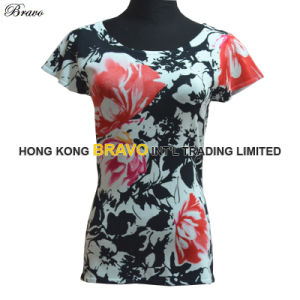 2015 Summer Fashion Printing Ladies Knitted Sweater (E29)