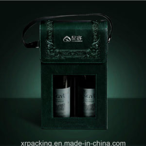 PU Leather Dual Wine Box/Case pictures & photos