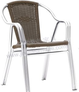 Aluminum Outdoor Cafe Patio Dining Wicker Rattan Chair (JJ-AR01)