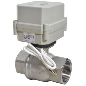 china 1 1 4 inches electric shut off ball valve with 230v