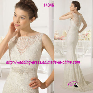 Romatic Mermaid Lace Dress Wedding with Buttons Back pictures & photos