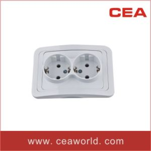 10A/16A European/German Double Shucko Socket Outlet pictures & photos