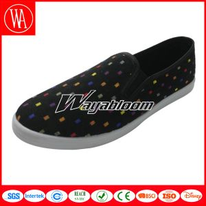 Rubber Slip-on Canvas Shoes Women Leisure Casual Shoes pictures & photos