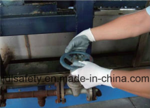Nylon Knitted Working Gloves with Foam Nitrile Coated Glove (N1566) pictures & photos