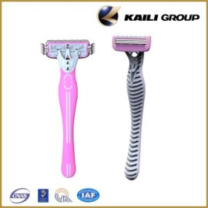 Disposable Three Blade Shaving Razor for Laday with Best Design pictures & photos